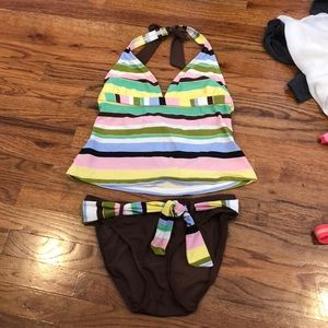 Two piece bathing suit in good condition